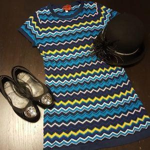 Missoni Dresses - Mission for Target Blue Multi Mini Dress Tunic